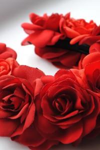 Ободок «Красные розы»