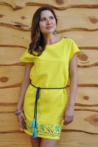 Платье мини с вышивкой